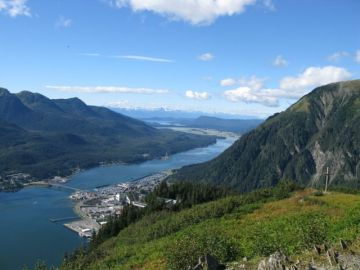 View of Juneau from Mt. Roberts