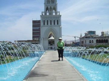 Florence in the Iquique main plaza
