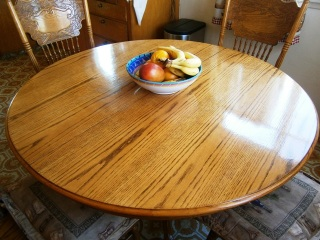 Family heirloom oak table refinished